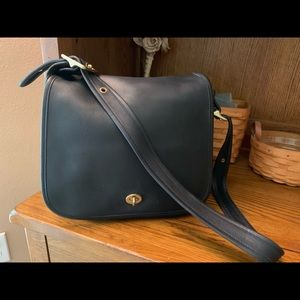 Vintage Coach stewardess bag black